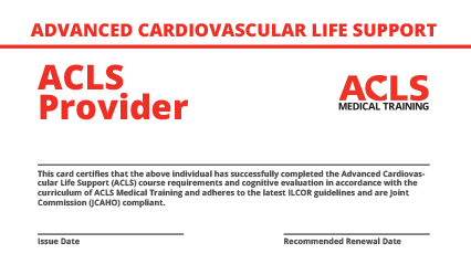 ACLS Certification - Official Online ACLS Recertification in 2 Hours