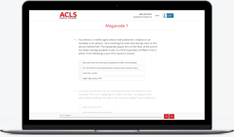 Online based ACLS, BLS, and PALS Recertification