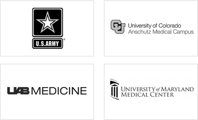 U.S. Army, University of Colorado Anschutz Medical Campus, UAB Medicine, University of Maryland Medical Center